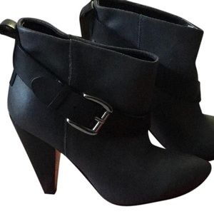 Black Guess Buckle Ankle Boots
